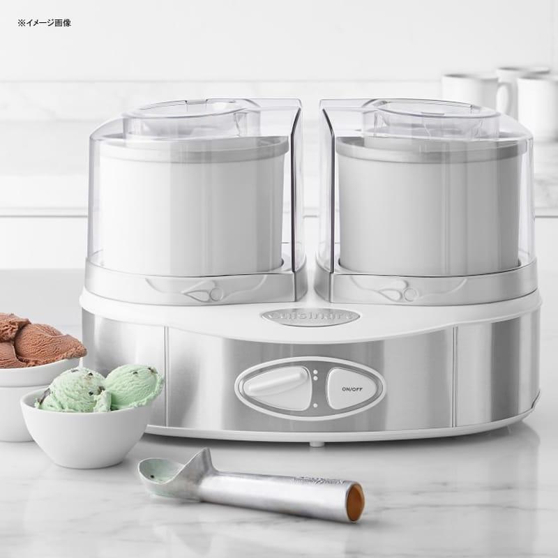 ウイリアムズ・ソノマ クイジナート アイスクリームメーカー デュオ フローズンヨーグルト シャーベット Williams-Sonoma Cuisinart Flavor Duo Frozen Yogurt-Ice Cream & Sorbet Maker 家電