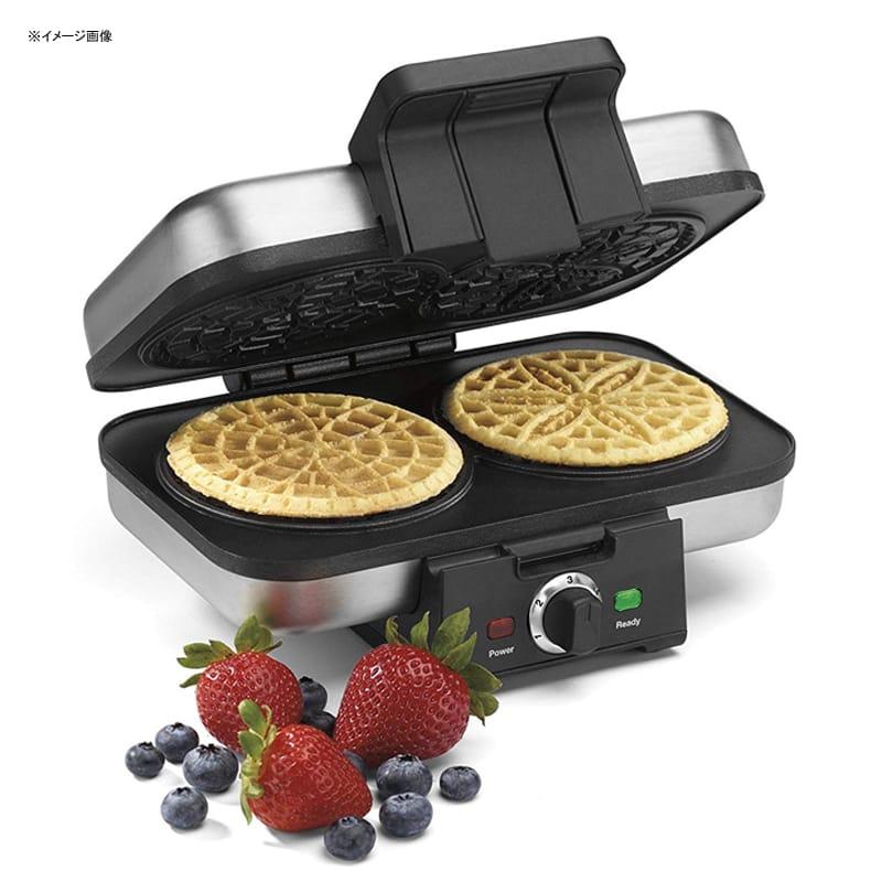 クイジナート ピゼルメーカー プレス Cuisinart WM-PZ10 Pizzelle Press, Silver 家電