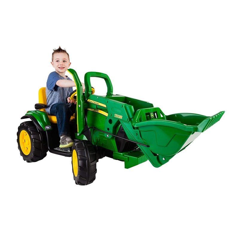 ペグ・ペレーゴ ジョンディア ローダー 12Vバッテリー付子供用電動自動車 3~7才 電気自動車 電動カー Peg Perego John Deere Ground Loader Ride On, Green IGOR0069【代引不可】【組立要】 家電