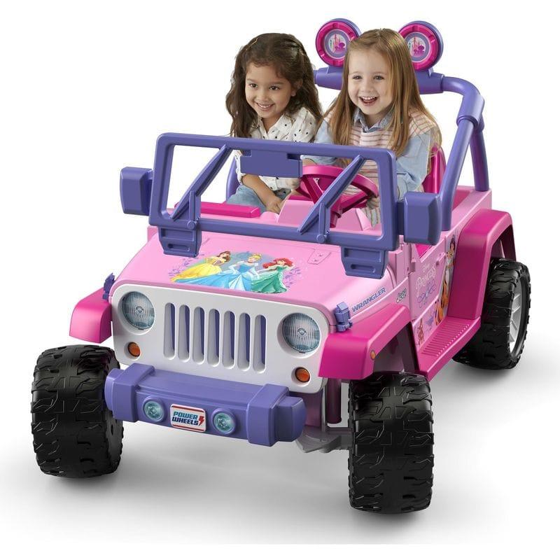 電気自動車 12Vバッテリー付 Disney ディズニープリンセス ジープ Power Wrangler 電動自動車 フィッシャープライス Princess Wheels Jeep