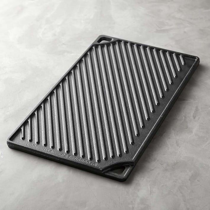 ロッジ キャストアイロン リバーシブル グリル パン コンロ用鉄板 Lodge Cast-Iron Reversible Grill & Griddle Pan