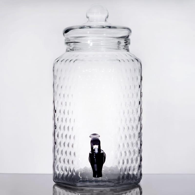 ドリンクサーバー 模様入 ガラスドリンクディスペンサー 3.8L レストラン カフェ ホテル Acopa 1 Gallon Glass Beverage Dispenser 553100049