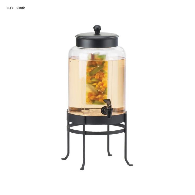 【送料無料】 ドリンクサーバー ガラスドリンクディスペンサー 7.5L インフューザー ワイヤースタンド付 レストラン カフェ ホテル Cal-Mil 1580-2INF-13 2 Gallon Black Soho Glass Beverage Dispenser with Infusion Chamber 21115802INF1