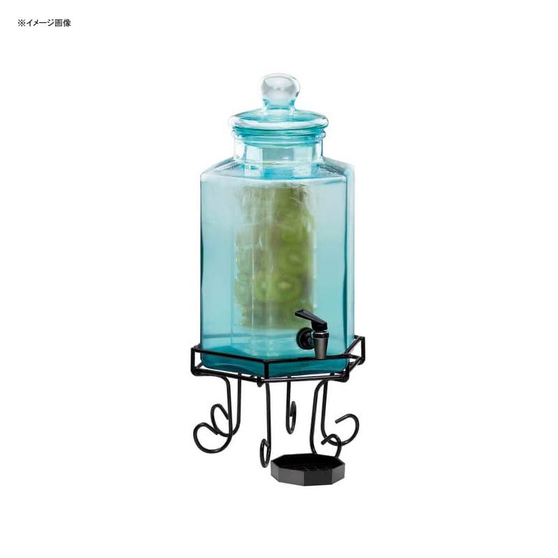 【送料無料】 ドリンクサーバー ブルーガラスドリンクディスペンサー 7.5L インフューザー ワイヤースタンド付 レストラン カフェ ホテル Cal-Mil 1111INF 2 Gallon Glass Beverage Dispenser with Wire Base and Infusion Chamber 2111111INF