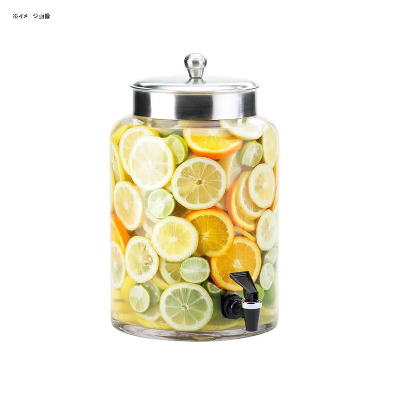 【送料無料】 ドリンクサーバー ガラスドリンクディスペンサー 7.5L レストラン カフェ ホテル Cal-Mil 1748-2 2 Gallon Round Glass Beverage Dispenser with Stainless Steel Top 21117482
