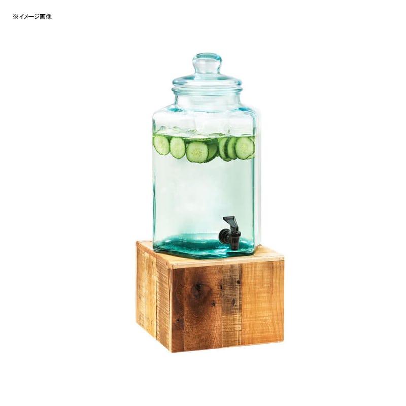 【送料無料】 ドリンクサーバー ガラスドリンクディスペンサー 7.5L 木製スタンド付 レストラン カフェ ホテル Cal-Mil 3422-2 2 Gallon Vintage Glass Beverage Dispenser with Wooden Base 21134222