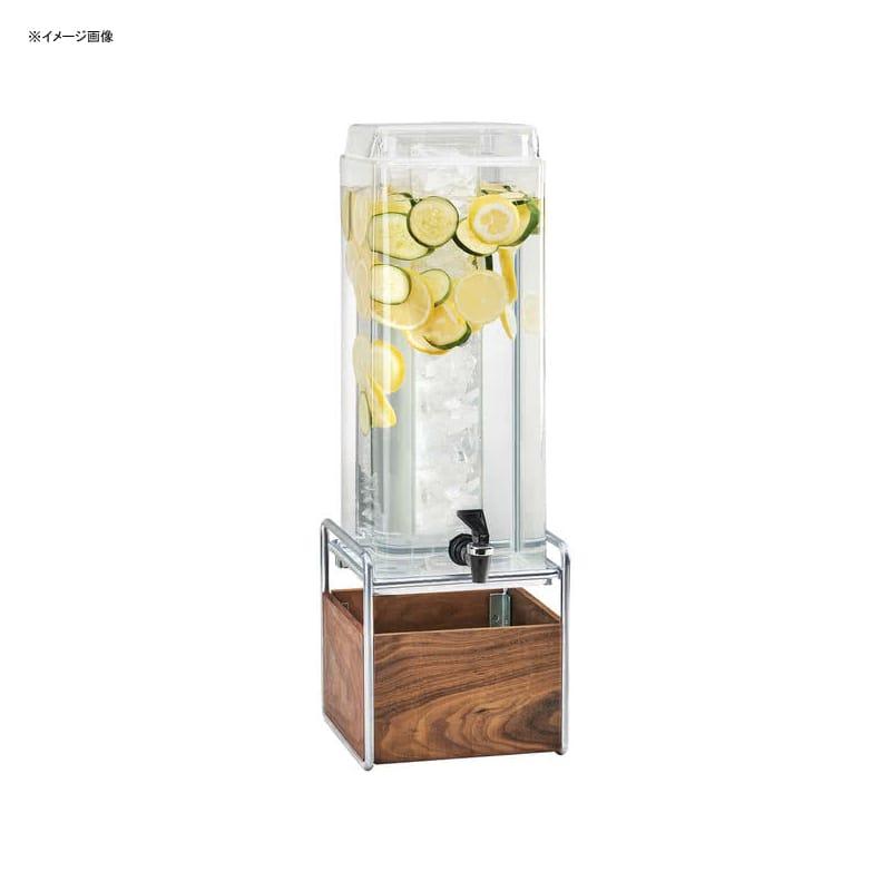 【送料無料】 ドリンクサーバー スクエア型 ドリンクディスペンサー 11L インフューザー 木製スタンド付 レストラン カフェ ホテル Cal-Mil 3703-3INF-49 Mid-Century 3 Gallon Square Beverage Dispenser with Walnut and Chrome Base and Infusion Chamber 2113INF49