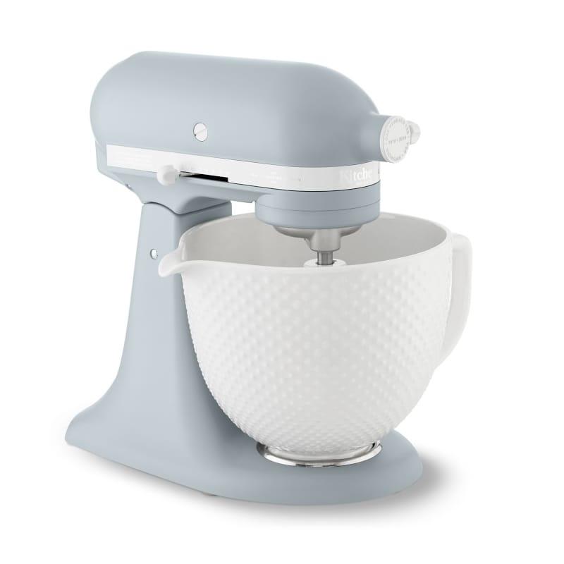 ウイリアムズ・ソノマ キッチンエイド 100周年 記念 限定デザイン モデル アルチザン 4.8L セラミックボウル ブルーグレー Williams-Sonoma KitchenAid Limited Edition Heritage Artisan Model K 5-Qt Stand Mixer with Ceramic Hobnail Bowl 家電