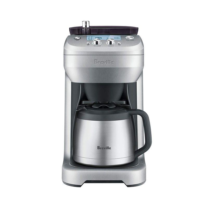 ブレビル ステンレスカラフェ 12カップ 豆挽き付コーヒーメーカー Breville BDC650BSS Grind Control 家電