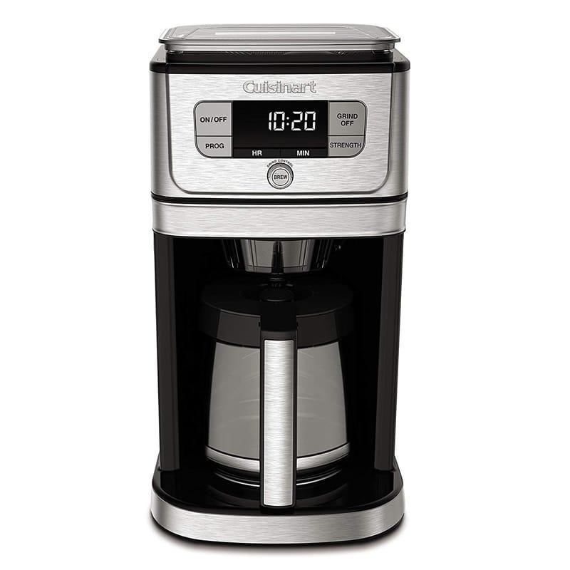 クイジナート 豆ひき ミル付 全自動コーヒーメーカー ガラスカラフェ 12カップ Cuisinart DGB-800 Burr Grind & Brew Coffeemaker, Stainless Steel 家電