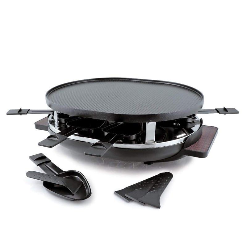 スイスマー ラクレットグリル 8人用 マホガニー オーバル Swissmar KF-77066 Matterhorm 8-Person Raclette, Black 家電