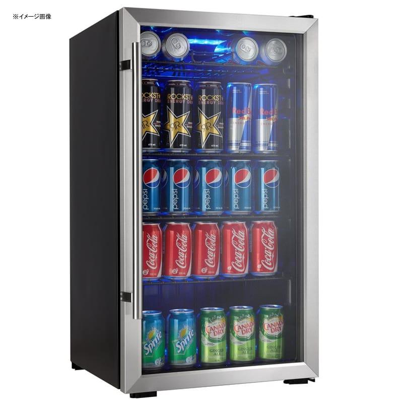 冷蔵庫 ガラスドア オフィス 事務所 ショーケース かっこいい おしゃれ ダンビー 93L 最大120缶 Danby Designer 3.3 cu. ft. Beverage Center DBC93BLSDD 家電【代引不可】