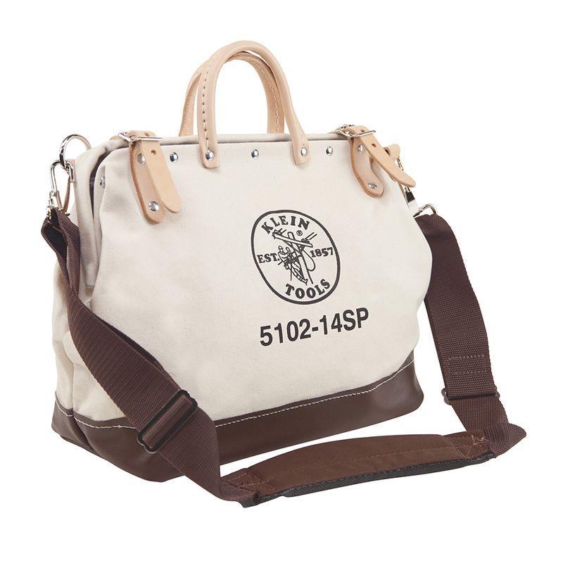 工具バッグ クラインツール キャンバス ツールバッグ 工具箱 ストラップ付き 35cm アメリカ製 Kleintools 14'' Deluxe Canvas Tool Bag 5102-14SP
