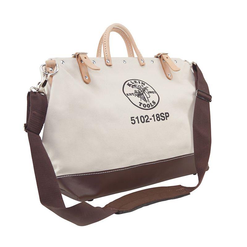 工具バッグ クラインツール キャンバス ツールバッグ 工具箱 ストラップ付き 45cm アメリカ製 Kleintools Deluxe Canvas Tool Bag, 18-Inch 5102-18SP
