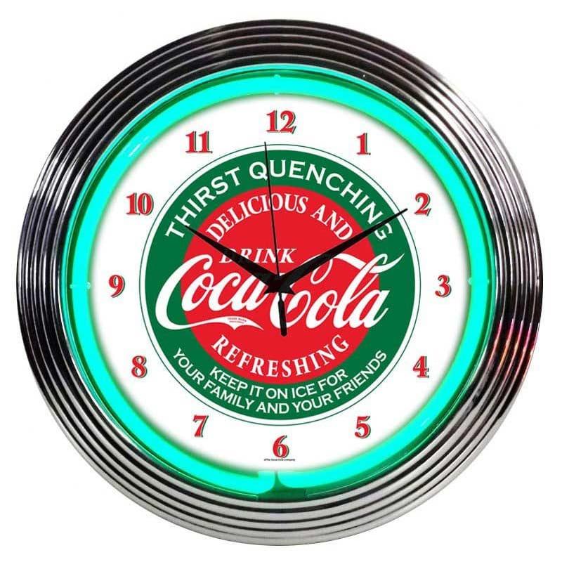 コカコーラ ネオンウォールクロック 直径38cm 掛け時計 レトロ Neonetics Drinks 15
