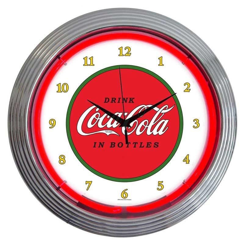 コカコーラ ネオンウォールクロック 直径38cm 掛け時計 クラシック レトロ Neonetics Drinks 15