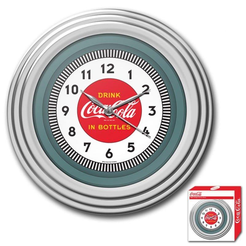 コカコーラ ウォールクロック 直径30cm 掛け時計 レトロ Trademark Global Coca Cola 11.75