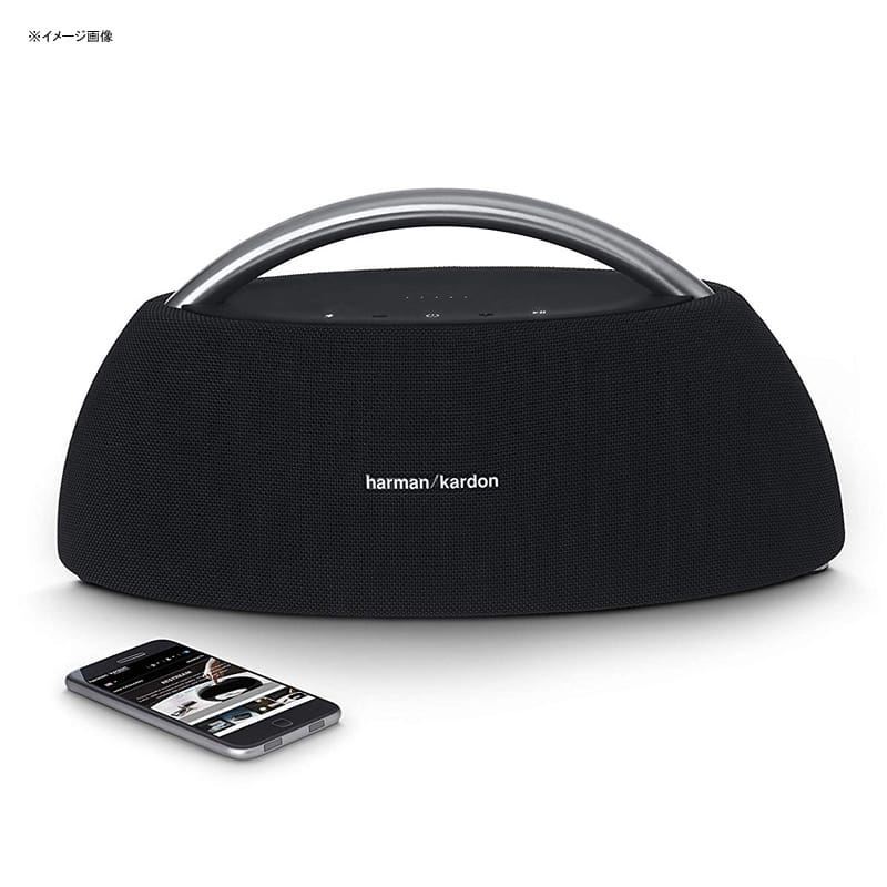 ハーマン Bluetooth ポータブルスピーカー ステンレスハンドル Harman Kardon GO+Play Mini Black GO+Play Portable BT Speaker