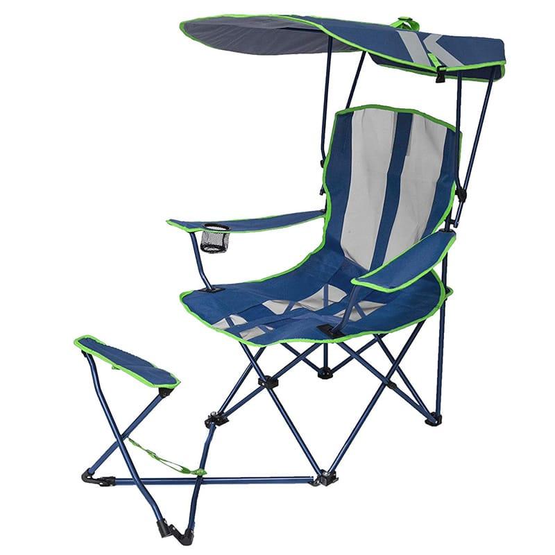 折りたたみ椅子 アウトドア キャノピーチェア 日よけ付 イス オットマン付 キャンプ スポーツ観戦 Kelsyus Original Canopy Chair with Ottoman