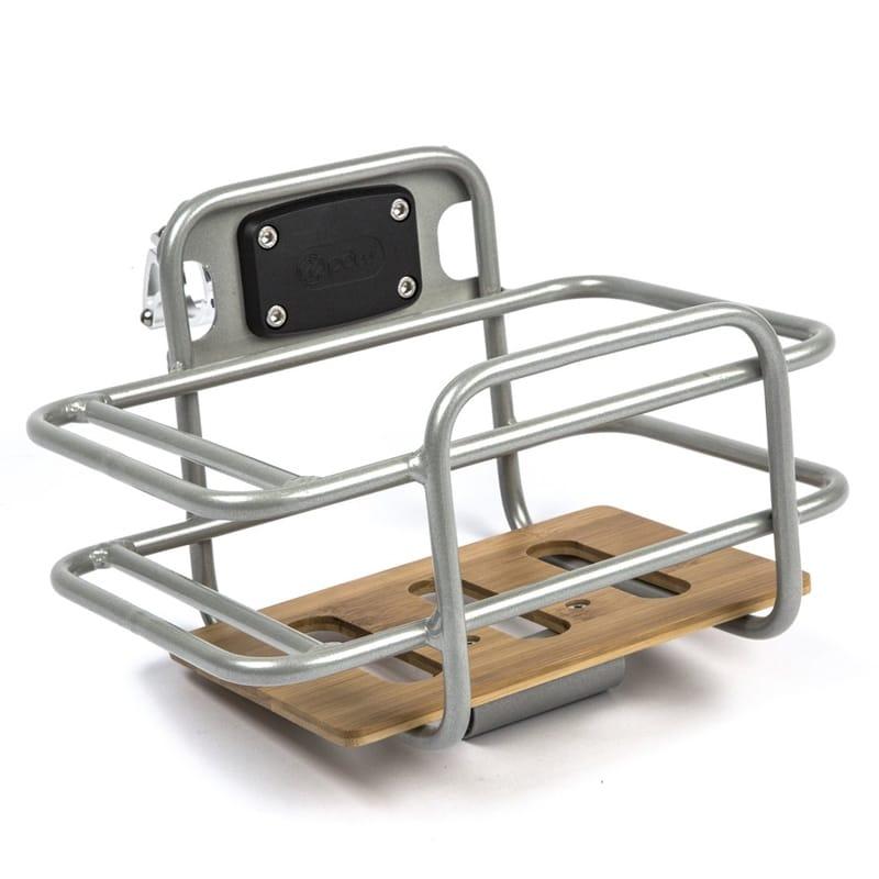 ロードバイク用 バスケット 前かご 自転車 クランプ径22.0~31.8mmに適合 アルミ バンブー竹 PDW Task Basket