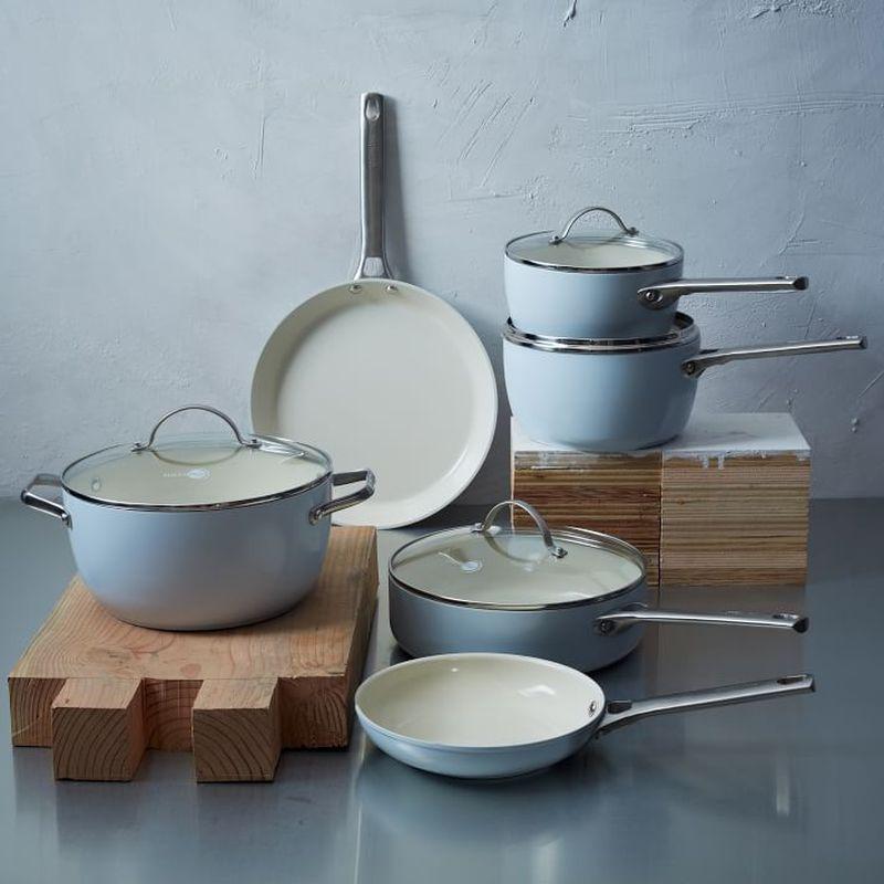 フライパン フライパン グリーンパン PFOAフリー 鍋10点セット PFASフリー PFOAフリー Cookware ライトブルー GreenPan Padova Ceramic Non-Stick 10Pc Cookware Set, Light Blue, 直方市:38ed02c8 --- sunward.msk.ru