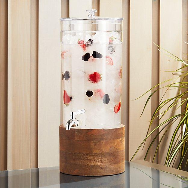 ドリンクサーバー アクリル ディスペンサー スタンド付 BPAフリー プラスチック蛇口 木 大理石 5.5L クラロ レストラン カフェ ホテル Claro Acrylic Drink Dispenser