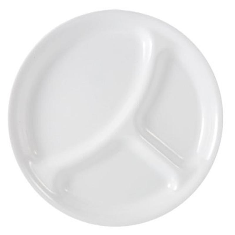 コレール ランチプレート 仕切り皿 区切り皿 4枚セット ウィンターフロストホワイト 白 食器 Corelle Livingware Divided Plate, 10-1/4-Inch, Winter Frost White
