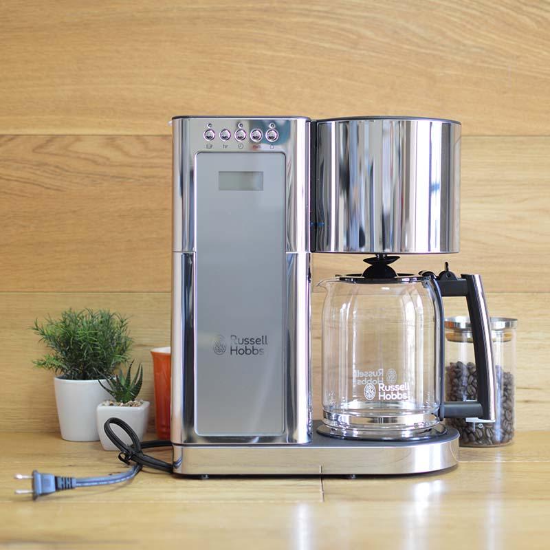 コーヒーメーカー ラッセルホブス ステンレス ガラスカラフェ 8カップ Russell Hobbs Glass Series 8-Cup Coffeemaker, Silver & Stainless Steel, CM8100GYR 家電