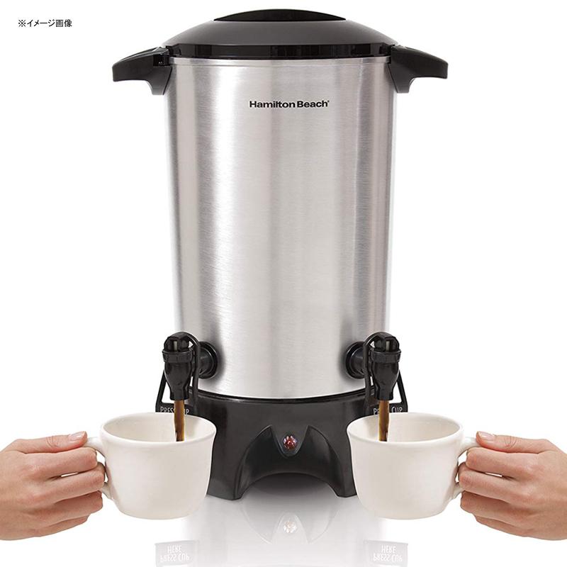 大きい コーヒーメーカー サーバー ダブルスパウト 7L ディスペンサー ホテル レストラン パーティー 業務 イベント 結婚式 ハミルトンビーチ Hamilton Beach 40518 Dual-Spout Coffee Urn, Silver 家電