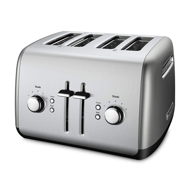 ポップアップトースター 4枚焼 キッチンエイド 焼き色5段階 KitchenAid Kmt4115cu 4-Slice Toaster with Manual High-Lift Lever 家電
