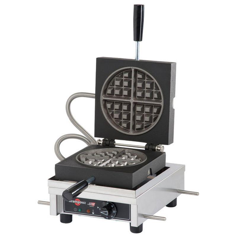 業務品質 ワッフルメーカー 4枚焼 クランプーズ ラウンド 丸型 ベルギーワッフル Krampouz WECCCCAS Round Style Belgian Waffle Maker - 7