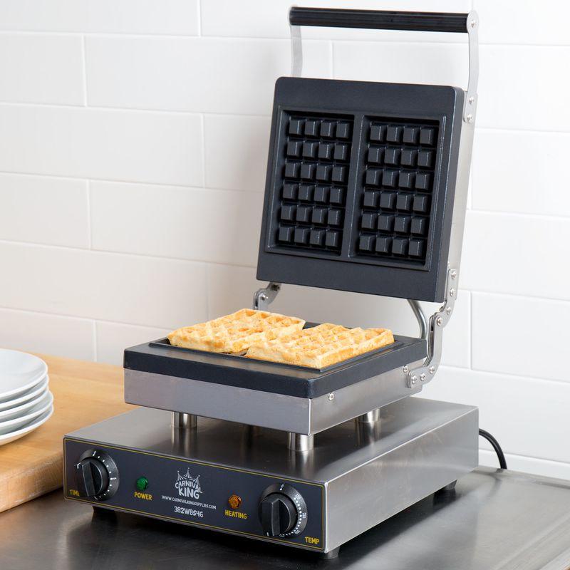 業務品質 ワッフルメーカー 2枚焼 ブリュッセル ベルギーワッフル タイマー付 厚み1.6cm Carnival King WBS46 Brussels Style Belgian Waffle Maker with Timer 家電