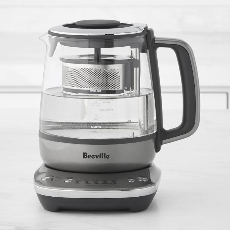 ガラス 電気ケトル 1L コンパクト ティーメーカー 温度調節可能 ブレビル BPAフリー Breville Tea Maker Compact BTM700SHY1BUS1 家電