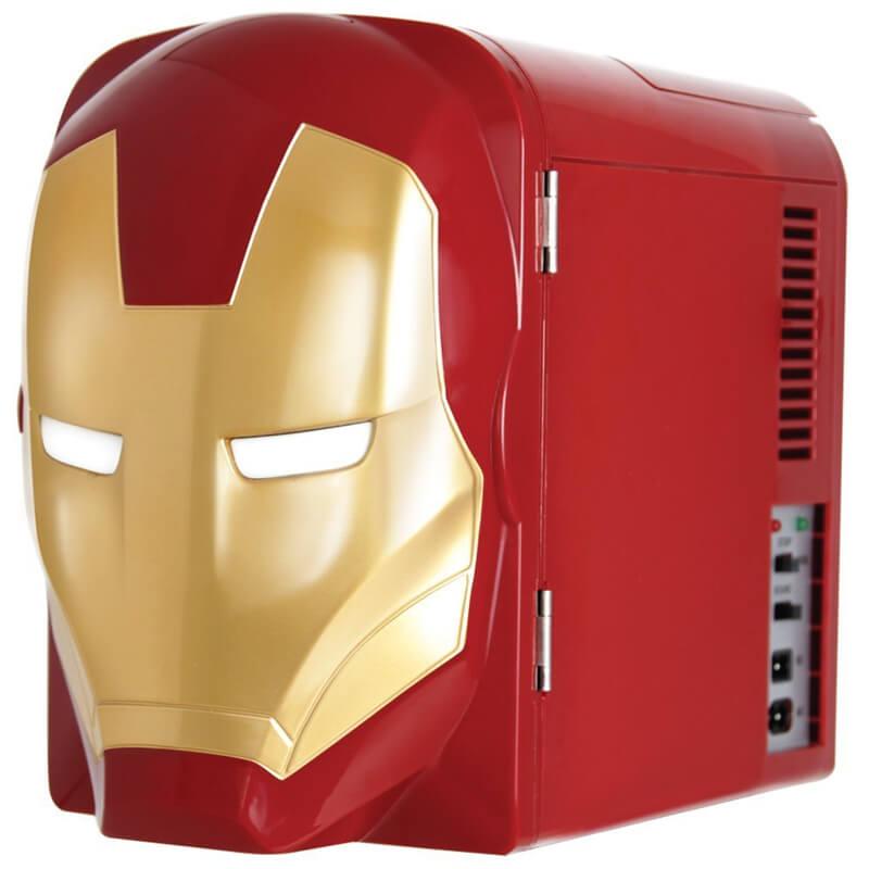 マーベル ミニ 冷蔵庫 6缶 パーソナル 保冷庫 Marvel Ironman Thermo-Electric Mini Fridge Cooler, Red/Gold, 4 L 家電