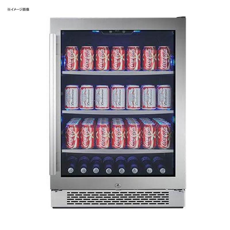 冷蔵庫 ビルトイン アンダーカウンター ガラスドア ガラス棚 3段 右ヒンジ 152缶 ステンレス Avallon ABR241SGRH 152 Can 24