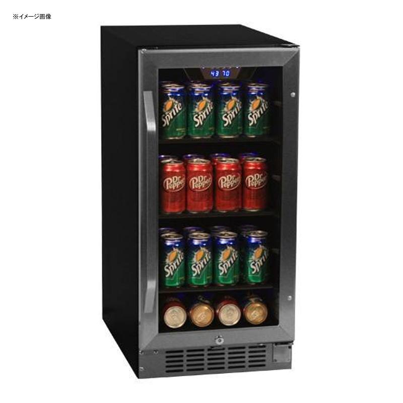 冷蔵庫 ビルトイン アンダーカウンター ガラスドア ガラス棚 80缶 ステンレス EdgeStar CBR901SG 80 Can 15 Inch Wide Built-in Beverage Cooler - Black/Stainless Steel 家電