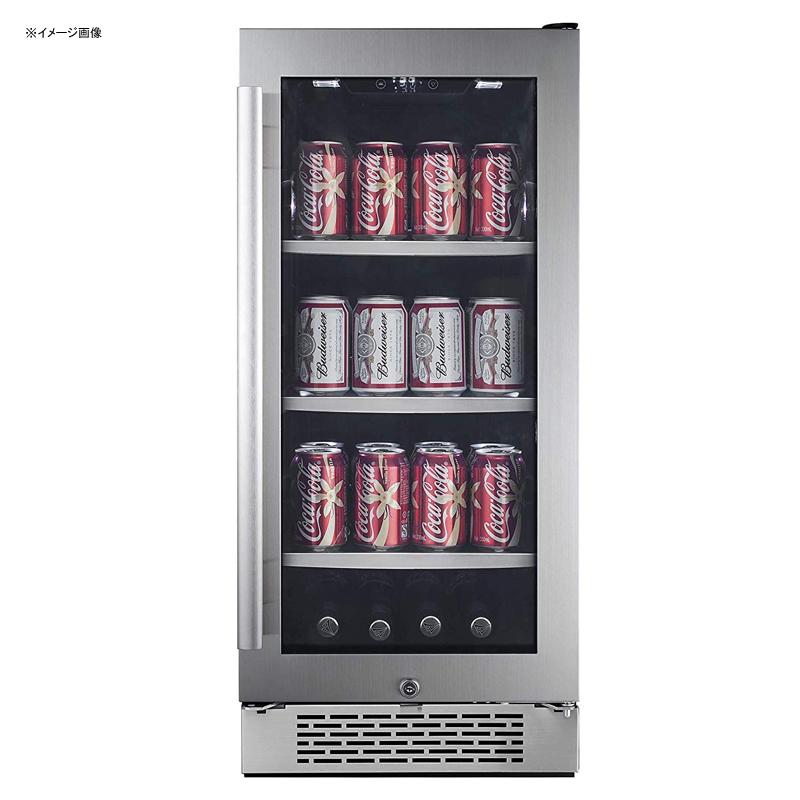 冷蔵庫 ビルトイン アンダーカウンター ガラスドア ガラス棚 3段 右ヒンジ 86缶 ステンレス Avallon ABR151SGRH 86 Can 15