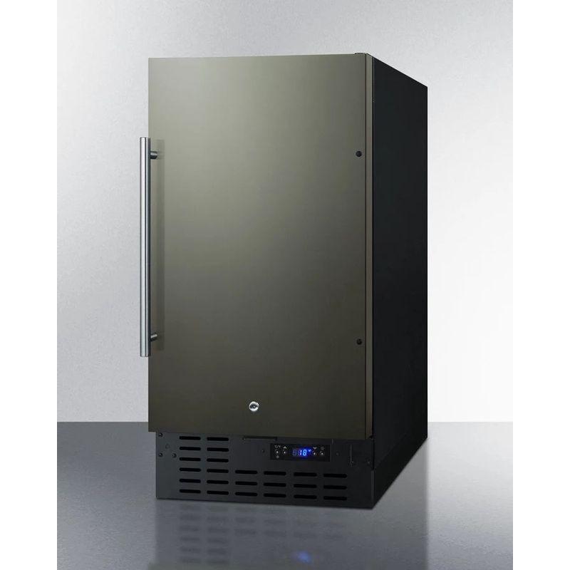 冷凍庫 ビルトイン アンダーカウンター 棚 4段 76L ブラック ステンレス Summit 18 Inch Undercounter Freezer SCFF1842KS 家電