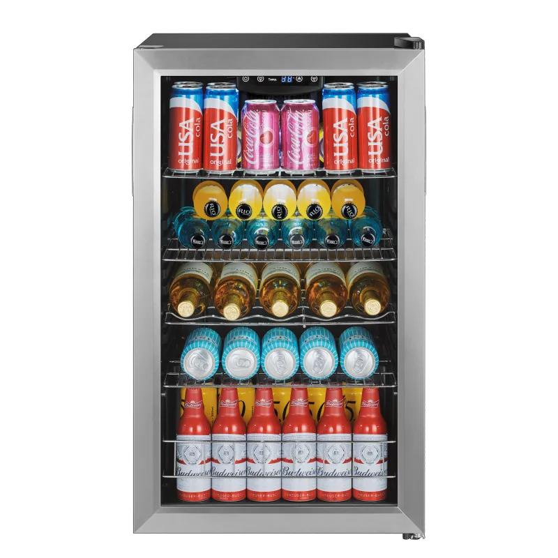 冷蔵庫 ガラスドア 棚4段 最大105缶 ステンレス ホテル 客室 EdgeStar BWC121SS 19 Inch Wide 105 Can Capacity Extreme Cool Beverage Center 家電