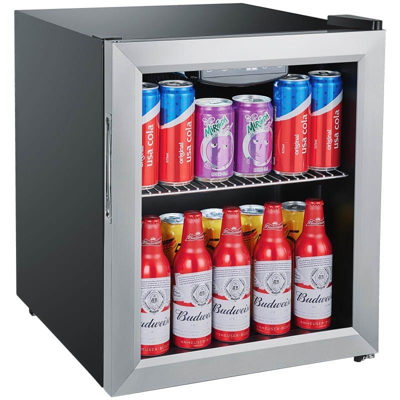 冷蔵庫 ガラスドア 最大52缶 ステンレス 保冷庫 ミニバー ホテル 客室 EdgeStar BWC71SS 18 Inch Wide 52 Can Capacity Extreme Cool Beverage Center【代引不可】家電