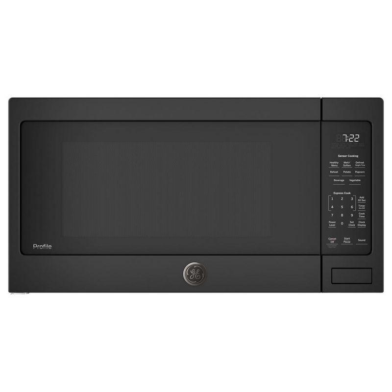 電子レンジ センサー付 大きいターンテーブル 42cm GE Profile 2.2 cu. ft. Countertop Microwave with Sensor Cooking PES7227 家電