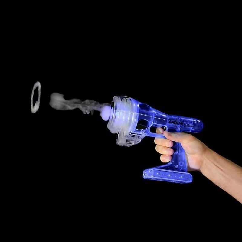 水蒸気の煙で輪っかを作るおもちゃ ブルーZero Blaster Vapor Vortex Generator - Blue by Zero Toys