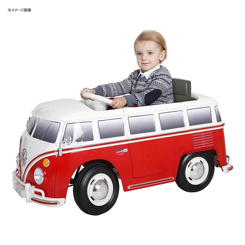 乗用玩具 フォルクスワーゲン バス 動自動車 6Vバッテリー 電気自動車 電動カー Rollplay 6 Volt VW Bus Ride On Toy, Battery-Powered Kid's Ride On Car 家電