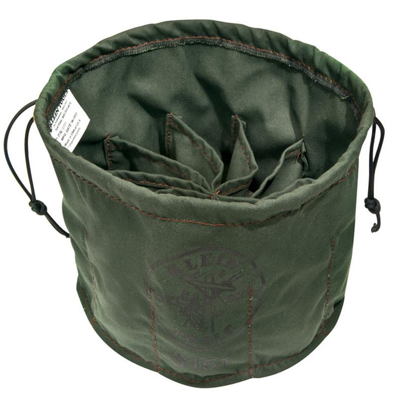 工具バッグ 巾着 ポーチ クラインツール 10ポケット ツールバッグ アメリカ製 Kleintools Drawstring Bag, 10-Compartment 5151