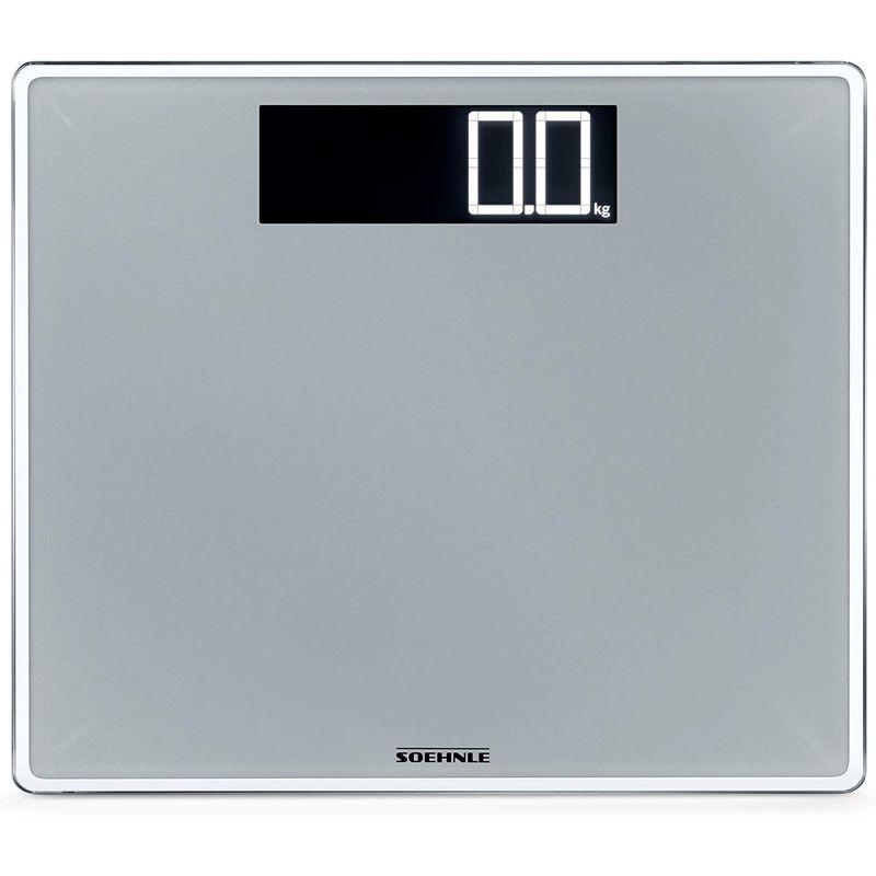 ツェーンレ 体重計 デジタルスケール ガラス シルバー Soehnle 63864 Style Sense Comfort Digital Bathroom Scale | Silver