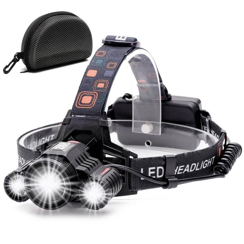 LED ヘッドライト 充電式 ヘッドランプ 6000ルーメン 防水 キャンプ アウトドア ハイキング Headlamp Cobiz Brightest High 6000 Lumen LED Work Headlight,18650 USB