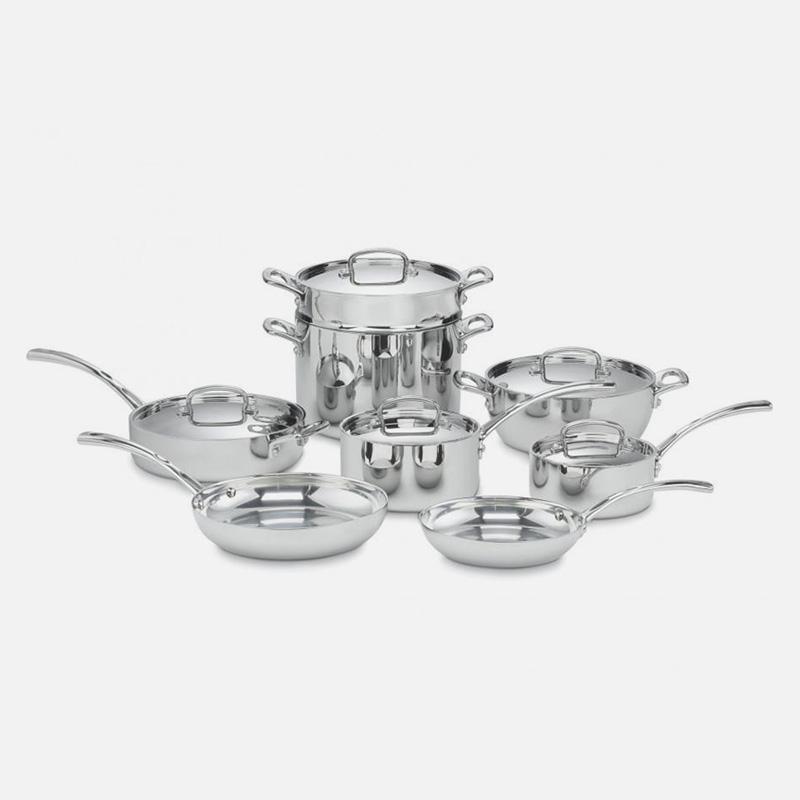 【送料無料】 クイジナート フライパン 鍋 13点セット IH対応 ステンレス アルミコア 3層 Cuisinart FCT-13 French Classic Tri-Ply Stainless 13-Piece Cookware Set