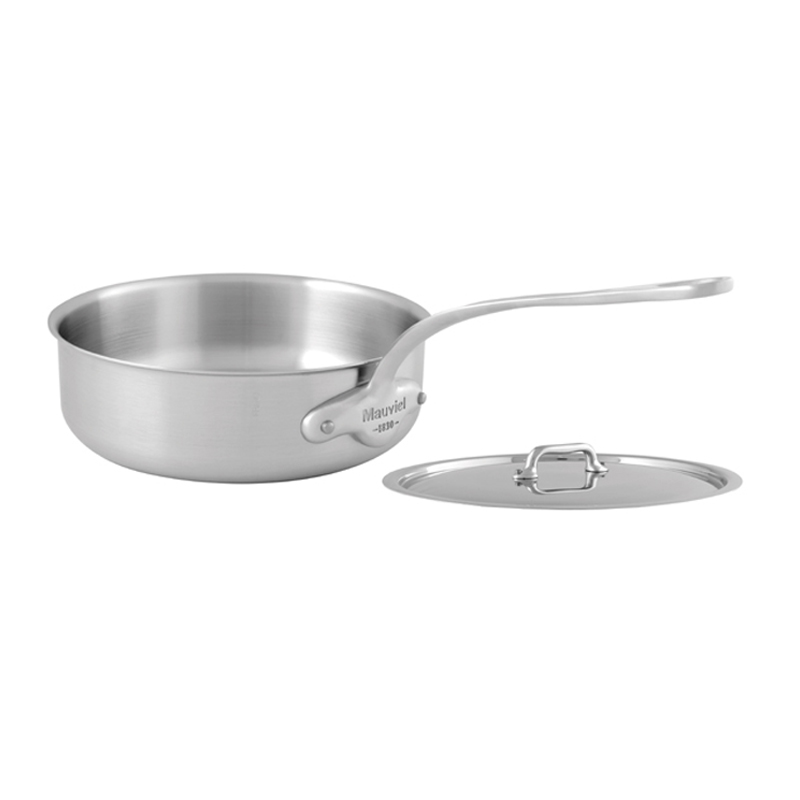 【送料無料】 ソテーパン フタ付 24cm ステンレス IH対応 ムビエル フランス Mauviel 5011.25 M'Urban Saute Pan with lid