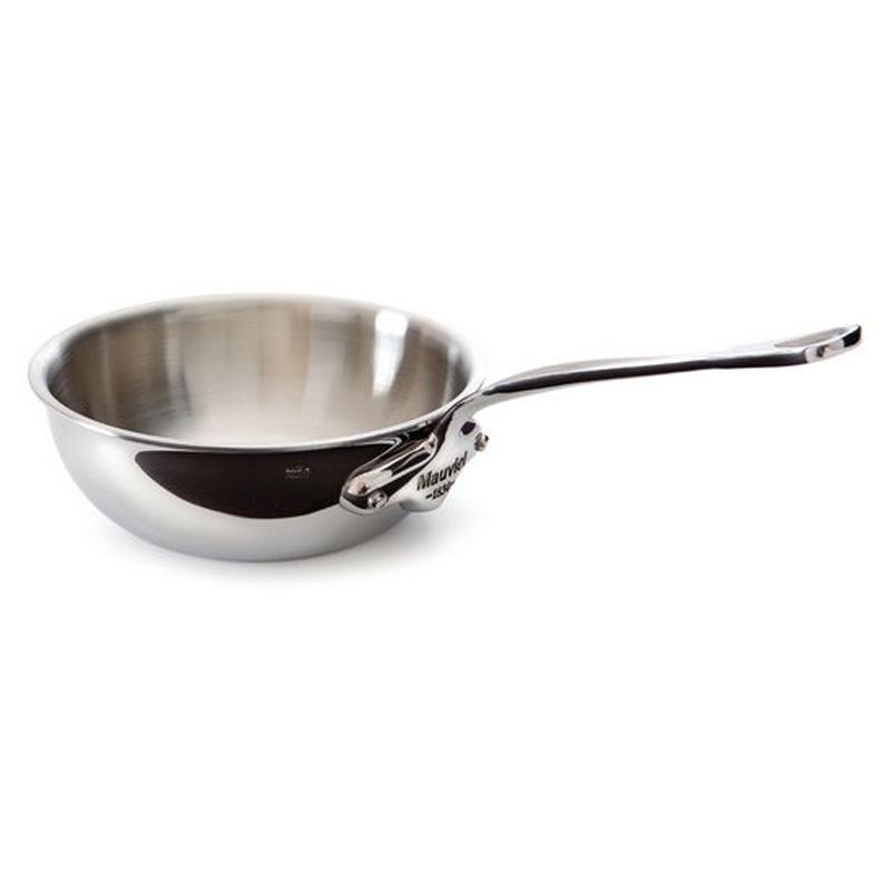 カーブドソテーパン フタ付 16cm 1L ステンレス 5層 IH対応 ムビエル フランス Mauviel 5212.17 M'cook Curved splayed saute pan w/ lid