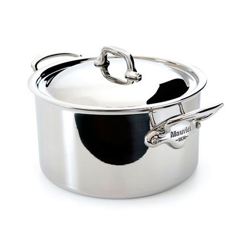 シチューパン 両手鍋 フタ付 24cm 5.8L ステンレス 5層 IH対応 ムビエル フランス Mauviel 5231.25 M'cook Stewpan (with stainless steel lid)